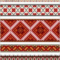 Link toBeautiful national dress pattern 01 vector