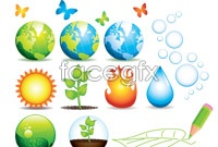 Link toBeautiful natural elements vector illustration