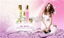 Link toBeautiful nature cosmetics advertising psd