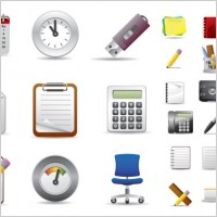 Link toBeautiful office icons vector