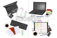 Link toBeautiful office supplies vector