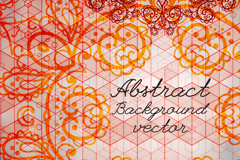 Link toBeautiful orange lace pattern vector background