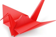 Link toBeautiful origami crane vector