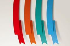 Link toBeautiful origami ribbon vector