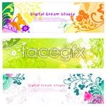 Link toBeautiful pattern banner vector