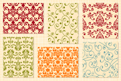 Link toBeautiful patterned lacy design vector