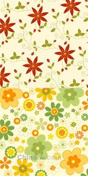 Link toBeautiful patterned wallpaper vector