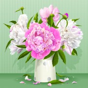 Link toBeautiful peonies flower design vector 02 free