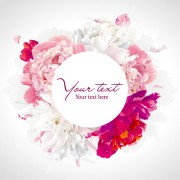 Link toBeautiful peony flower vector background graphics free