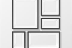 Link toBeautiful photo wall black vector