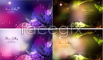 Link toBeautiful plant pattern background vector