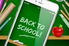 Link toBeautiful posters of school vector