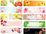 Link toBeautiful realistic flowers banner vector