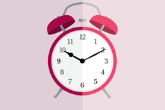 Link toBeautiful red alarm clock vector
