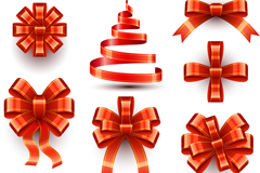 Link toBeautiful red bow ribbon design vector