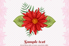 Beautiful red lily flowers vector