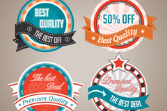 Link toBeautiful ribbons round discount tag vector