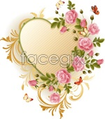 Link toBeautiful roses and butterfly vector