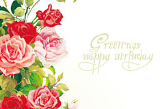 Link toBeautiful roses birthday background vector