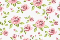 Link toBeautiful roses seamless vector background illustration