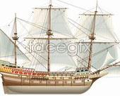 Link toBeautiful sailing ship vector