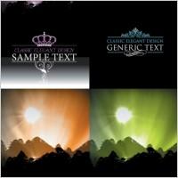 Link toBeautiful scenery silhouette vector
