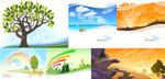 Link toBeautiful scenery vector