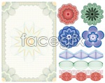 Link toBeautiful shades of anti-counterfeiting vector