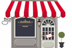 Link toBeautiful shop design vector