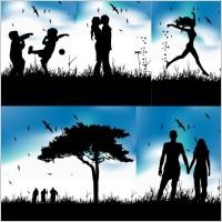 Link toBeautiful silhouette vector