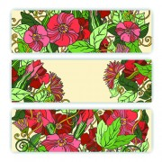 Link toBeautiful sketch floral vector banners 01 free