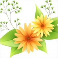 Link toBeautiful small flowers vector 1