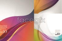 Link toBeautiful smooth curve background vector