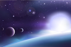 Link toBeautiful space vector background