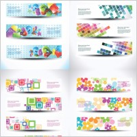 Link toBeautiful special effects design banners vector