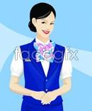 Link toBeautiful stewardess vector