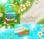 Beautiful summer backgrounds vector