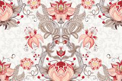 Link toBeautiful symmetric pattern seamless background vector map