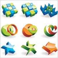 Link toBeautiful threedimensional icon vector
