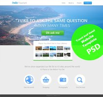 Link toBeautiful travel and hotel website template psd