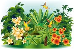 Link toBeautiful tropical landscape vector illustration