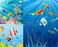 Link toBeautiful underwater world bubble light seaweed vector
