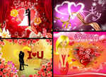 Link toBeautiful valentine's day cards psd