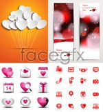 Link toBeautiful valentine's element vector