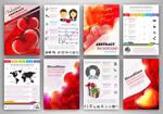 Link toBeautiful valentine's page vector