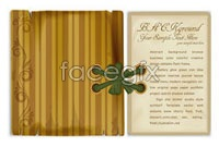 Beautiful vintage corner bookmark vector