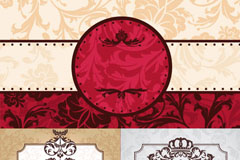 Link toBeautiful vintage frame of the pattern vector