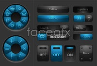 Link toBeautiful web buttons, vector illustration