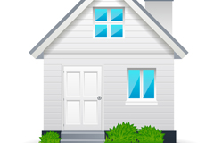 Link toBeautiful white houses design vector
