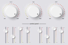 Link toBeautiful white knob vector